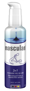 masculan 2 in 1 massage gel lube basic natural